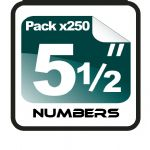 "5.5"" Race Numbers - 250 pack"